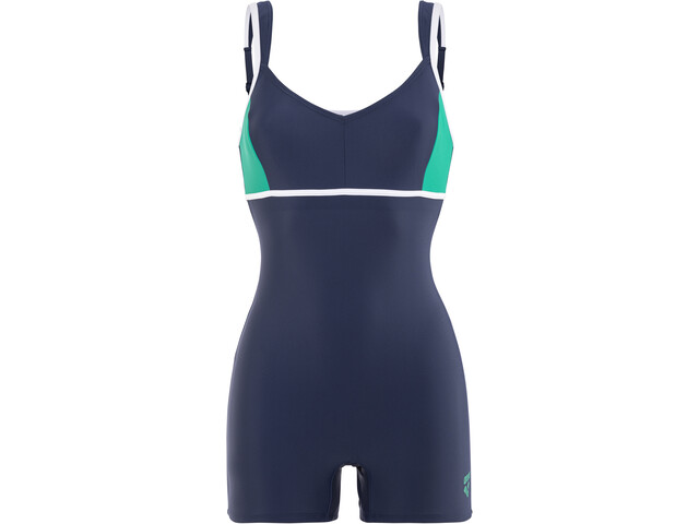 arena Venus Combi Bodysuit Dames, navy-persian green-white